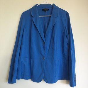 Women's Blue Soft Shell Blazer Style Jacket